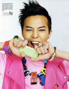 Picture of G-Dragon from big bang band  in our cars necklace!
