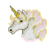Unicorn Head Cross Stitch Pattern