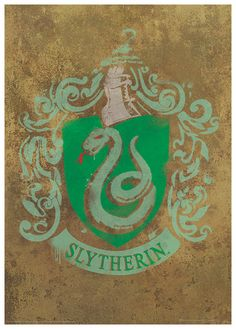 Harry Potter (Slytherin Crest) Movie Poster Masterprint at AllPosters.com