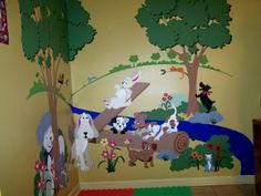 Small Puppy Playground Wall Mural