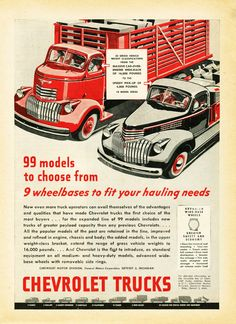 1946 Chevrolet Truck Ad