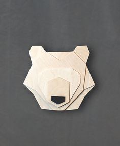 Geometric bear head di ValuShop su Etsy