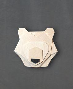 Geometric bear head di ValuShop su Etsy                                                                                                                                                                                 More
