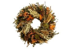 "18"" Artichoke Wreath, Dried 