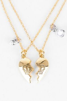 Juicy Couture Best Friends Forever Split Heart Necklace
