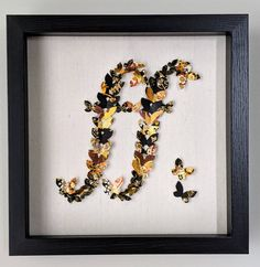 "Fortissimo Butterfly Art, Music,Wall Art, Black and Gold, Japanese Yuzen Washi Art, Home Decor,Origami Art, 10""x10""x2, Gift, Free Shipping, Music Wall Art, Japanese Origami, Butterfly Art, Origami Paper, Rice Paper, Washi, Black And Grey, Free Shipping, Frame"