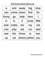 Blends Word List | Words