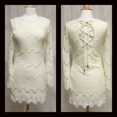 GORGEOUS Scalloped Dress w/Lace Up Back Small BNWT Unique One of a kind scalloped edged Dress w/Lace Up Back. Small BNWT 100% Polyester Thanks for Looking! ⛔️No PP/Trades✅Offers Considered ✅Bundle Discounts April Spirit Dresses Midi