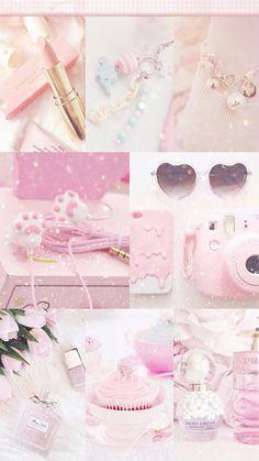 The ideal girly girl starter kit Aesthetic Pastel Wallpaper, Aesthetic Backgrounds, Pink Wallpaper, Aesthetic Wallpapers, Iphone Wallpaper, Pretty Pastel, Pastel Pink, Pastel Colors, Aesthetic Collage