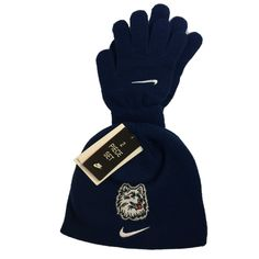 Nike Connecticut Huskies UCONN NCAA Youth Logo Knit Cap Beanie and Mitten Set 8-20 Black. 100% Acrylic. Officially Licensed Collegiate Product. Knit cuff beanie. Hand Wash Cold, Dry Flat. Imported.