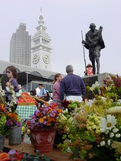 Farmers Market San Francisco Pier | ... overlooking the Ferry Plaza Farmer's Market on San Francisco's wharf