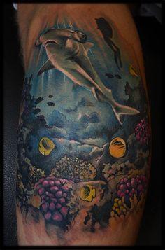 Shark tattoo Collective art tattoo studio in Riga.
