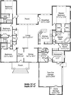 Traditional House Plan First Floor - 024D-0639 | House Plans and More