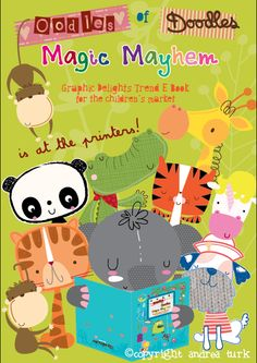 The next edition of Oodles of Doodles for Cinnamon Joe Studio is now at the printers. We are eagerly awaiting the next publication called Magic Mayhem.