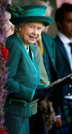 Queen Elizabeth II - Annual Braemar Highland Games Gathering
