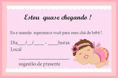 104 Melhores Imagens De Convites De Chá De Bebê Baby Cards Card
