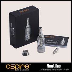 Hot Aspire nautilus vaporizer with stainless steel tank  5ml Adjustable Airflow  Atomizer kit   Features:Stainless SteelAdjustable Airflow Control in 4 Positions from .9 to 1.8mm air holes.Pyrex glass tube holds about 5mlBDC (Bottom Dual Coil) TechnologyElegant Modern Body ShapeRe  #Vape http://vaper.ga/8s