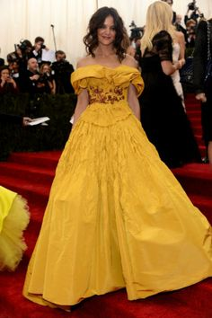 Katie Holmes in Marchesa at the 2014 Met Gala