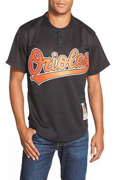 Mitchell & Ness 'Cal Ripken Jr. - Baltimore Orioles' Authentic Mesh BP Jersey