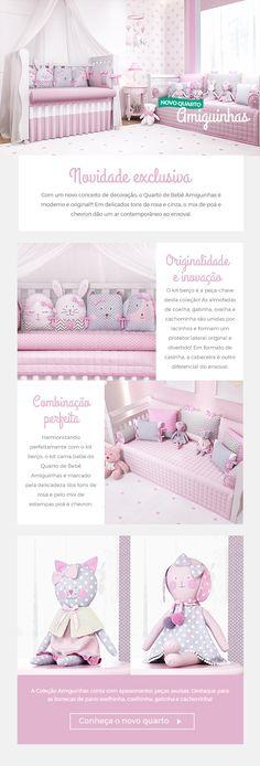O novo quarto de bebê rosa da sua princesa acabou de chegar! O Quarto de bebê Amiguinhas traz os animaizinhos preferidos da criançada para a decoração moderna e delicada do ambiente mais especial da casa!