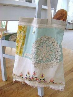 pretty summer tote bag