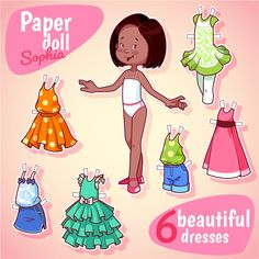 бумажные куклы с набором нарядов - Самое интересное в блогах
