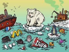 Global warming and pollution, Cartoon by Latrache Yassin Global Warming Drawing, Global Warming Poster, Effects Of Global Warming, Ocean Pollution, Plastic Pollution, Cartoon News, Protest Posters, Poster Drawing, Nature Beach