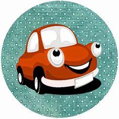 BulutsMom: Kırmızı Vosvos araba Temalı doğum Günü Süsleri