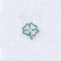 Four Leaf Clover Outline embroidery design