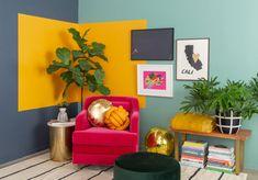 aventuras de patrones: una esquina de color bloqueado ... - ¡Oh, alegría!, Pattern Adventures: A Color-Blocked Corner ... / a través de Oh Joy!...,  #alegría #aventuras #bloqueado
