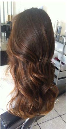 - Fashion and more : > - Cabelo Brown Hair Tones, Brown Hair Balayage, Brown Hair Colors, Hair Highlights, Bad Hair, Hair Day, Gorgeous Hair, Beautiful, Brunette Hair