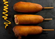 Corn Dogs- We used the deep fryer and they were delicious! The recipe is really easy, and we already have all the ingredients.