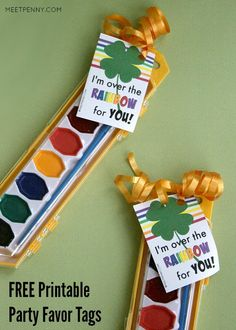 Saint Patricks Day Party Favors with Printables