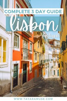 Plan a 3-day city trip and follow the best things to do in Lisbon, Portugal. Check out the best airbnb to stay in Lisbon - where to eat, where to hang, locations for photography & more. #Sintra… More