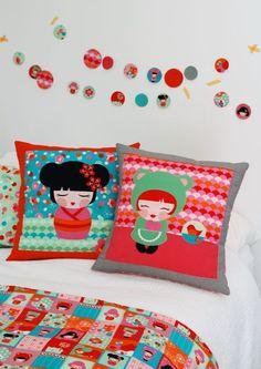 Hello Tokyo Kawaii Pillows, Large Free Pattern: Robert Kaufman Fabric Company