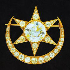 The legendary cresent moon and star known as the Chandtara normally worn as a head accessory or a broach