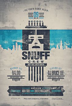 Flyer Design / Snuff Crew / May 09 / BeCool / Chicago Detroit House Techno