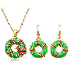 Set Collar & Pendientes Aleación Chapada en Oro Conjunto de Joyas de Regalo de Decoración de Navidad Padrón de Círculo  #christmas #navidad #reno #reindeer #decoration #deco #decoración #joyas #joya #joyeria #collar #pendiente #oro #christmastree #arboldenavidad #snow #cuchillo #cuchara #taza #tmart #Tmart #rojo #red #winter #navidear #christmasfan #holidays #family #navidades #santaclaus #papanoel #jewelry #necklace #earrings #earring