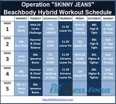 Beachbody Hybrid Workout Calendars | sport1stfuture org