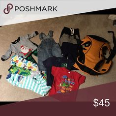 Baby boy bundle Sizes are 12 months and 24 months. Carter's PJs, Sean John jeans, Carter's sweat pants, and miscellaneous shirts. A baby carrier 3 months-18 months. Carter's Other