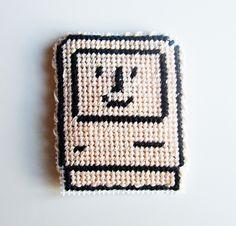Happy Mac Needlepoint Magnet by lost_mitten, via Flickr