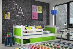 Detská posteľ Demi 2, masívu borovice a úložný priestor