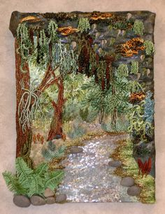 "** ""Enchanted Forest"" Brazilian Dimensional  Embroidery Pattern  @DKDesignsandrworthey"