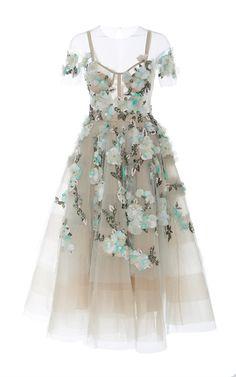 Medium marchesa multi off the shoulder tea length cocktail dress