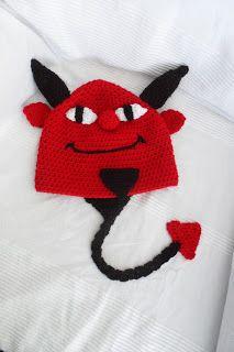I've Made Friday Week 77 ~ Crochet Addict UK.  Halloween Devil Hat