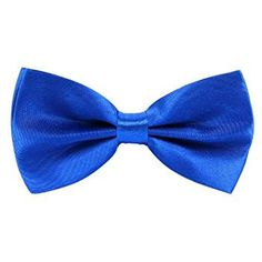 CellDeal nuevo para hombre Pure pajarita Plain poliéster Pre Atado Wedding Party pajarita azul azul