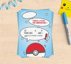 Kit anniversaire imprimable Pokemon invitations par MimosaChroma