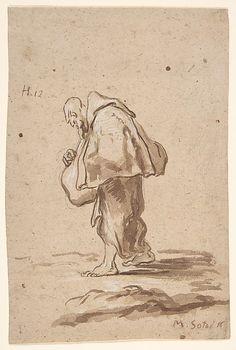 Standing Pilgrim Friar -  Alessandro Magnasco (Italian, Genoa 1667–1749 Genoa)    #TuscanyAgriturismoGiratola