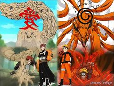 Chenchurikis Gaara, the one tail and Naruto, the nine tails