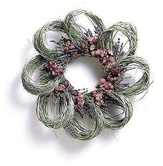 "16"" Bear Grass, Lavender & Wild Roses Wreath by Flora Pacifica, Affiliate item posted by MPG"